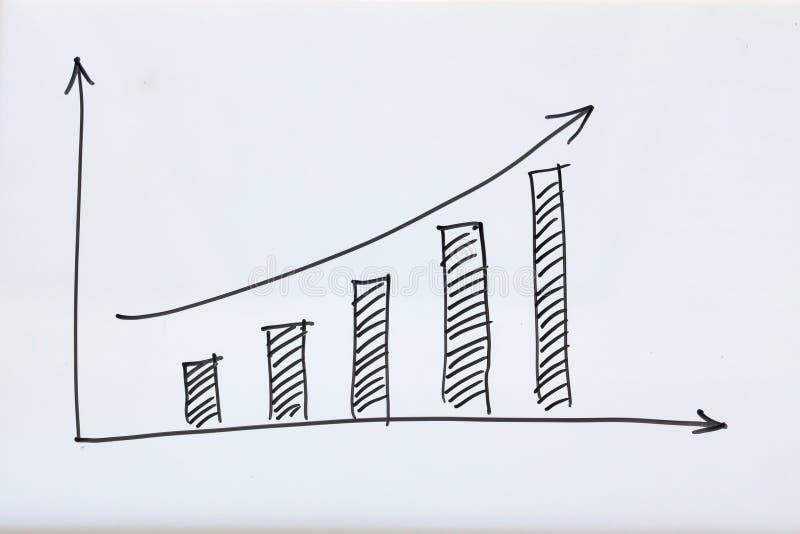 Geschäftswachstumsdiagramm lizenzfreies stockfoto