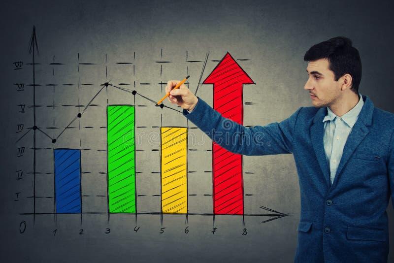 Geschäftswachstumsdiagramm stockfoto