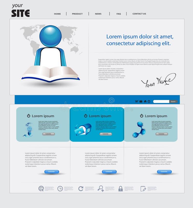 Geschäftsweb site stock abbildung