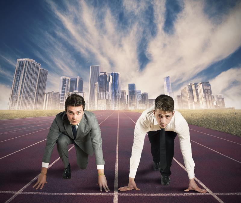 Geschäftswettbewerb stockfotos