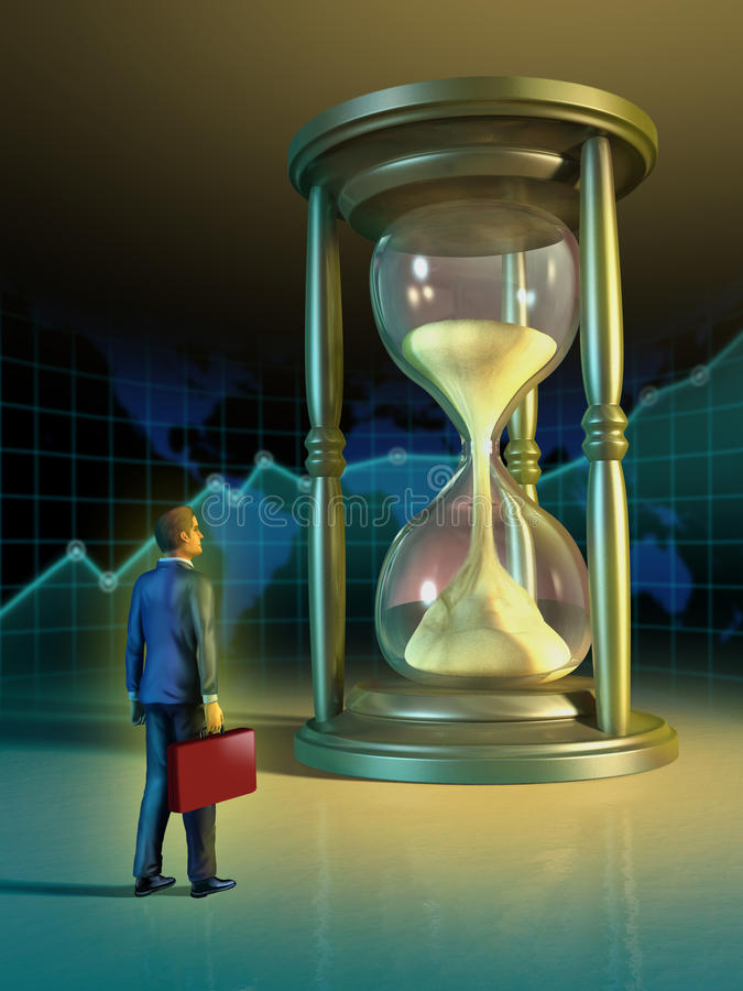 Geschäftszeit vektor abbildung