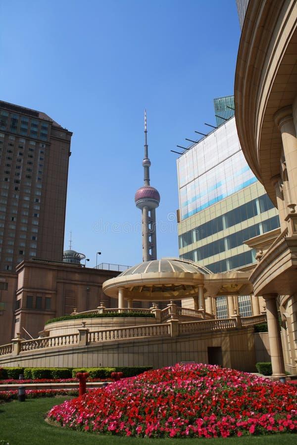 Geschäftszentrum in Shanghai stockbild
