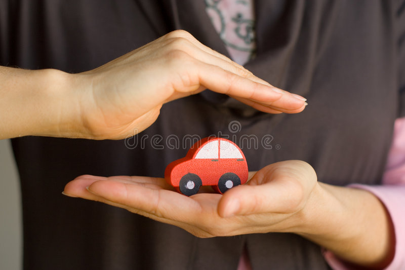 Geschütztes Auto lizenzfreie stockfotos
