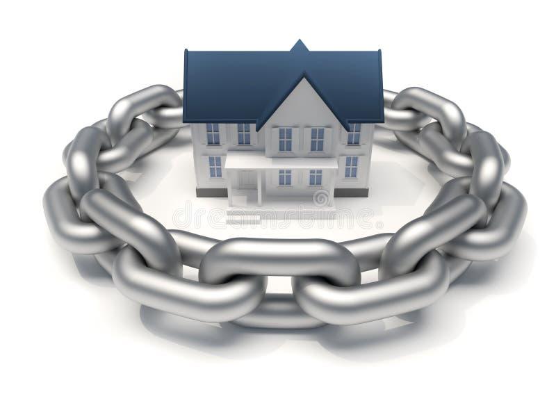 Geschütztes Haus lizenzfreie abbildung