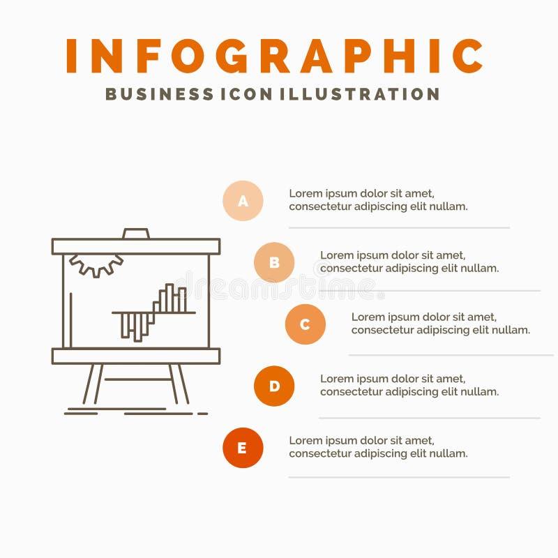 Gesch?ft, Diagramm, Daten, Diagramm, Schablone Notfall Infographics f?r Website und Darstellung r lizenzfreie abbildung