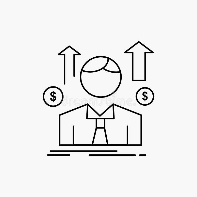 Gesch?ft, Mann, Avatara, Angestellter, Verkaufsmann Linie Ikone Vektor lokalisierte Illustration lizenzfreie abbildung