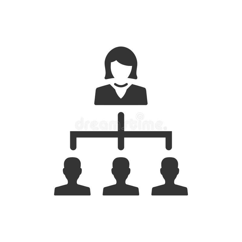 Gesch?fts-Hierarchie-Ikone lizenzfreie abbildung