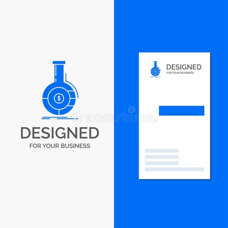 Gesch?fts-Logo f?r Analyse, Analytics, Bankwesen, Gesch?ft, finanziell Vertikale blaue Gesch?fts-/Visitenkarteschablone stock abbildung