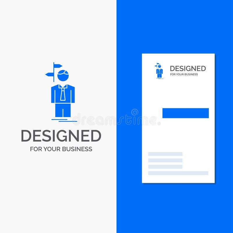Gesch?fts-Logo f?r Pfeil, Wahl, w?hlen, Entscheidung, Richtung Vertikale blaue Gesch?fts-/Visitenkarteschablone stock abbildung