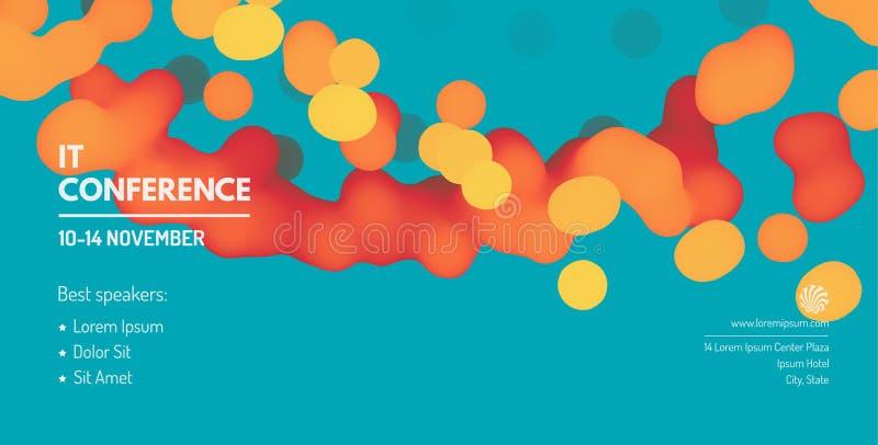 Gesch?ftsereignis-Einladungsschablone Kann f?r on-line-Kurs-, Vorlagenklasse, Seminar, Darstellung, webinar verwendet werden oder stock abbildung