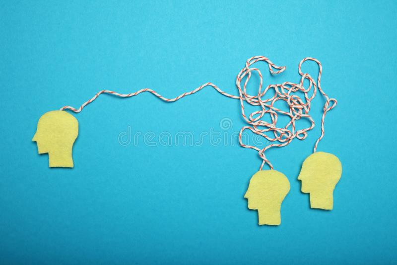 Gesch?ftstreffen, Diskussion Intelligentes Gehirn B?roteamwork lizenzfreie stockfotografie