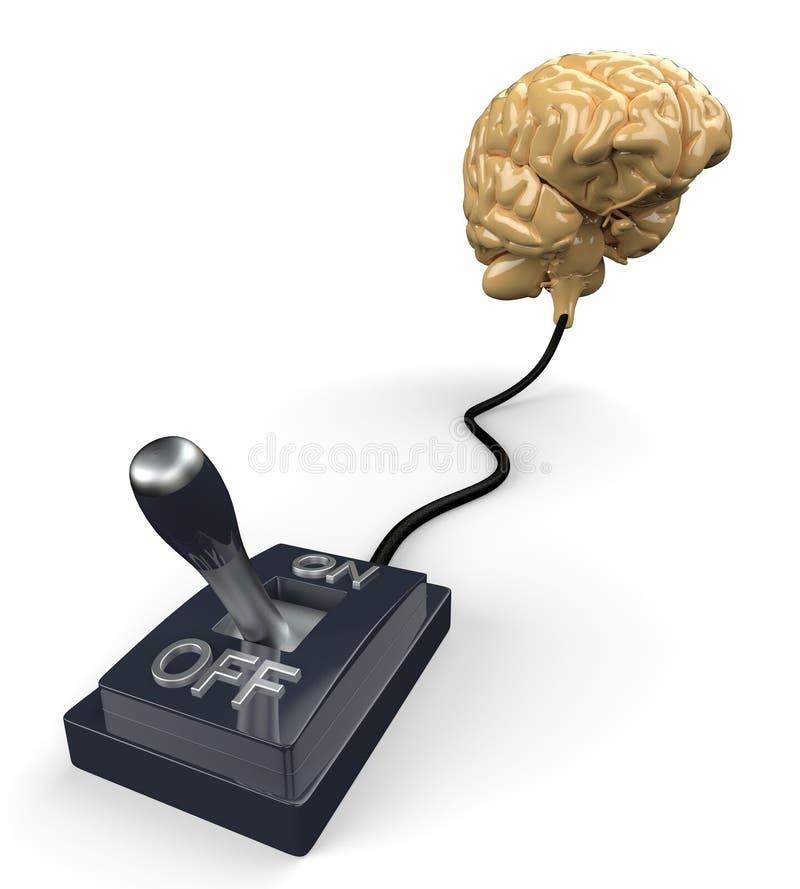 Geschaltet weg vom Gehirn stock abbildung