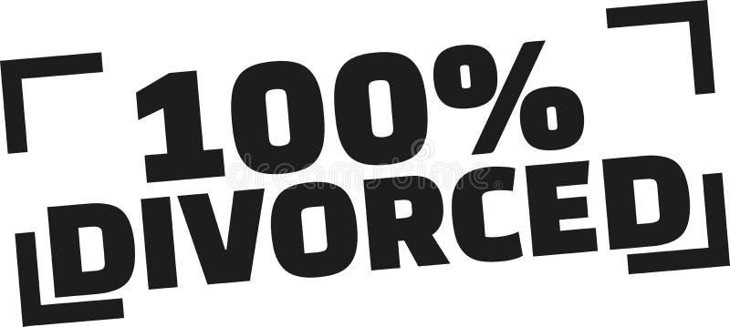 100% Gescheiden zegel vector illustratie