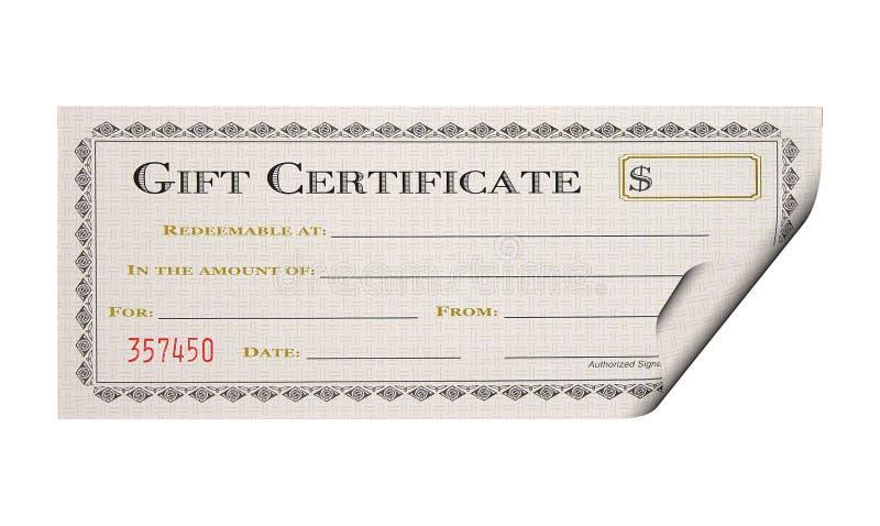Geschenk-Bescheinigung lizenzfreies stockfoto