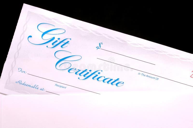 Geschenk-Bescheinigung lizenzfreies stockbild