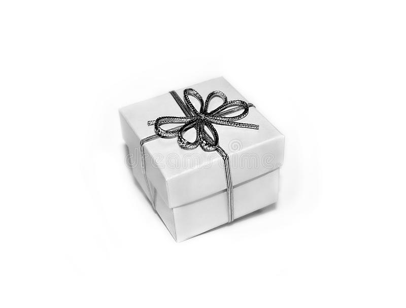 Geschenk des weißen Kastens lizenzfreies stockbild