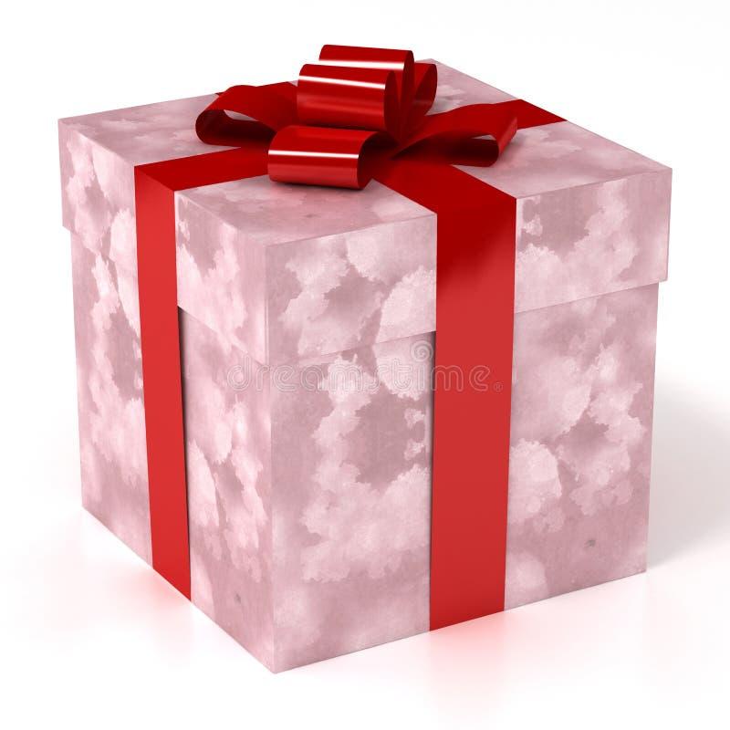 Geschenk-eingewickelter Kasten stock abbildung