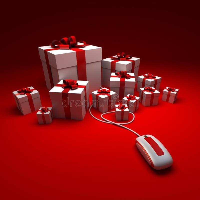 Geschenk-Einkaufen lizenzfreie abbildung