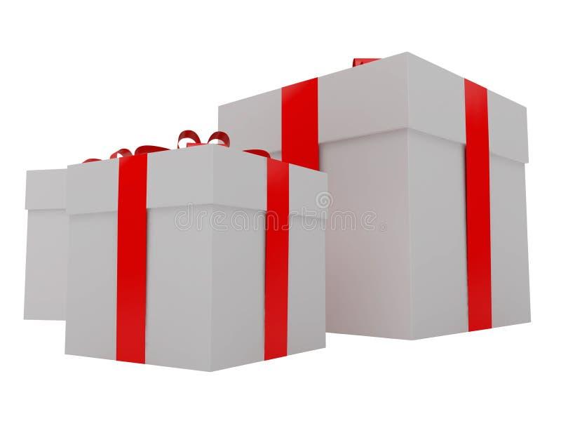 Geschenk für einen Feiertag lizenzfreie abbildung