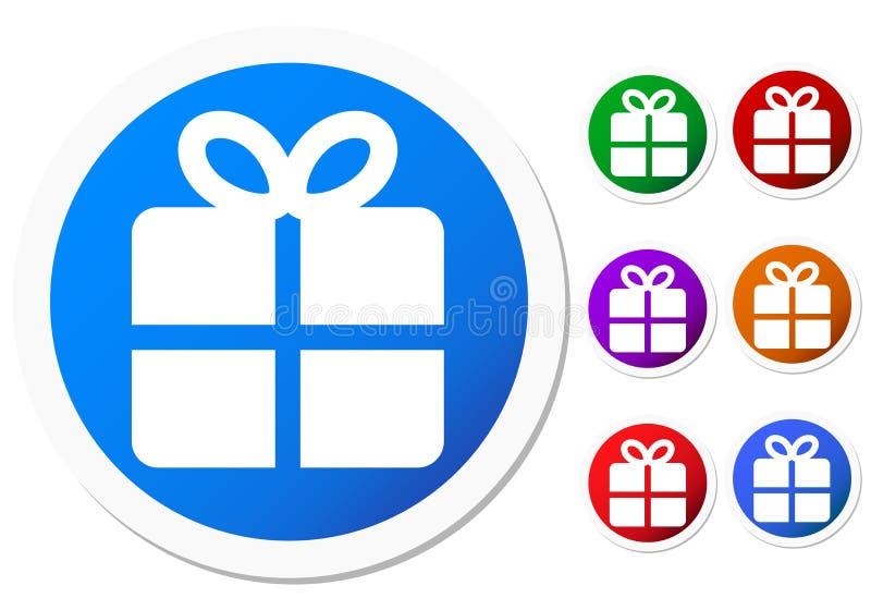 Geschenk-Ikonen lizenzfreie abbildung