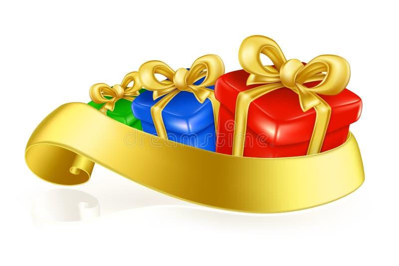 Geschenk-Kästen lizenzfreie abbildung