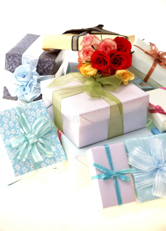 Geschenk-Kasten lizenzfreies stockbild