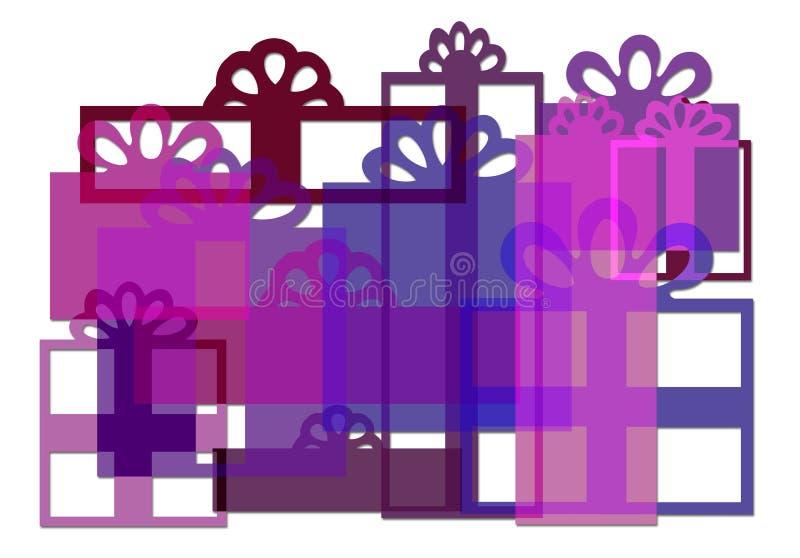 Geschenk-Kastenaufbau vektor abbildung