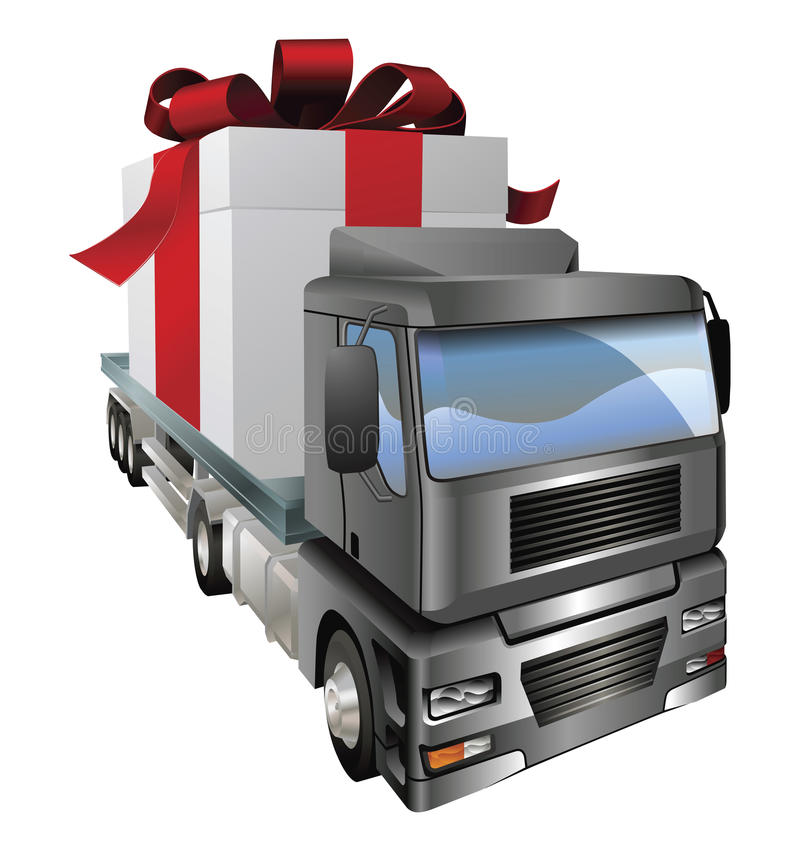 Geschenk-LKW-Konzept stock abbildung