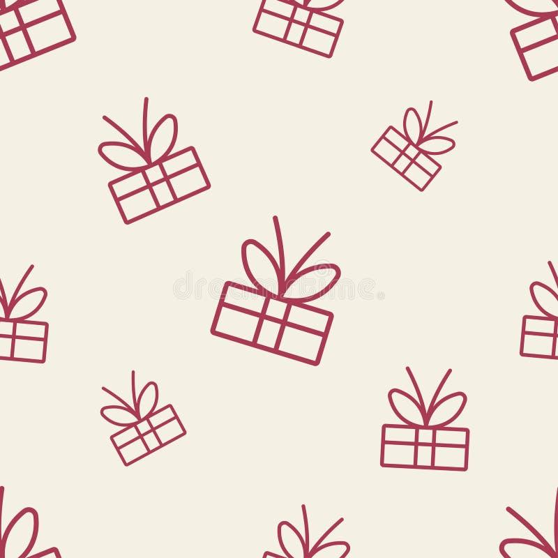 Geschenk-Muster achtes lizenzfreie abbildung