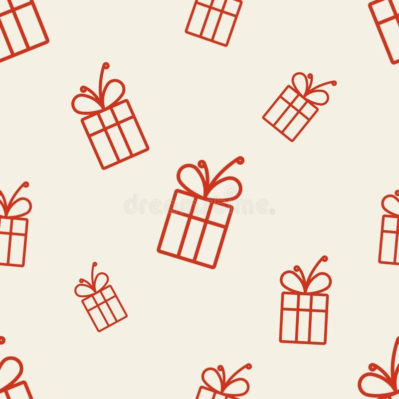 Geschenk-Muster drei stock abbildung