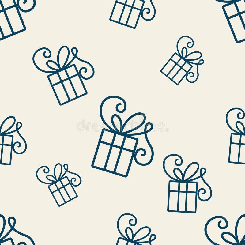Geschenk-Muster eins stock abbildung