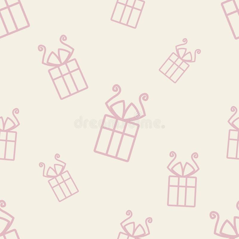Geschenk-Muster fünf lizenzfreie abbildung