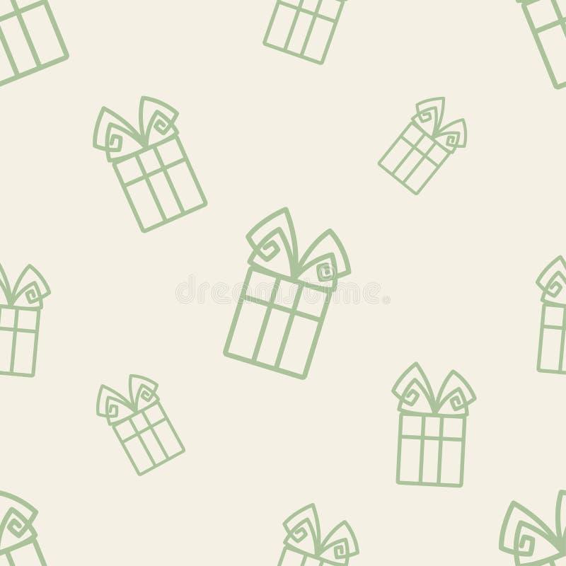 Geschenk-Muster sechs stock abbildung