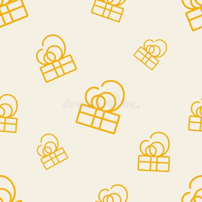 Geschenk-Muster sieben stock abbildung