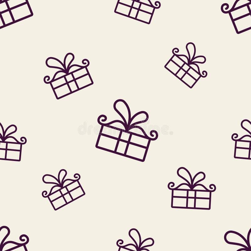 Geschenk-Muster zwei lizenzfreie abbildung