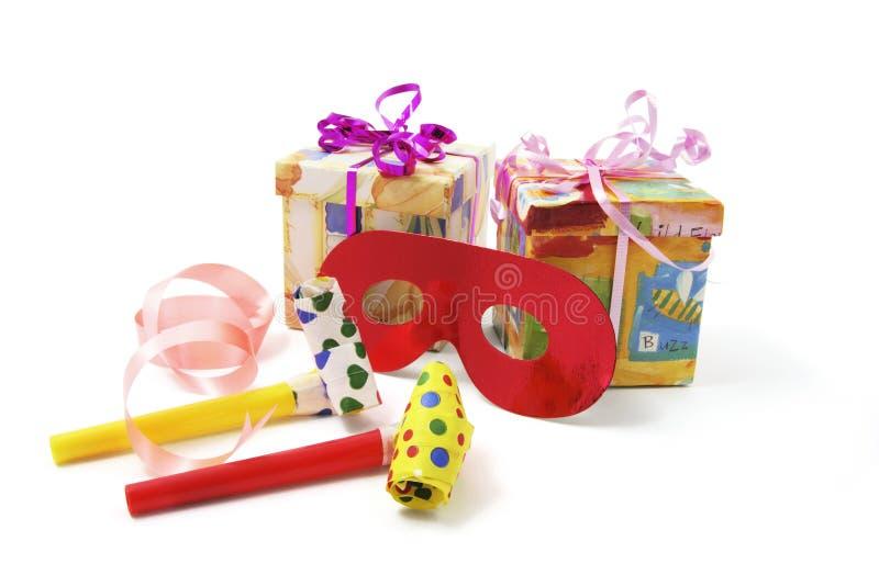 Geschenk-Paket-und Party-Bevorzugungen lizenzfreies stockfoto