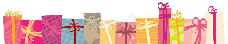 Geschenk-Seitenende vektor abbildung