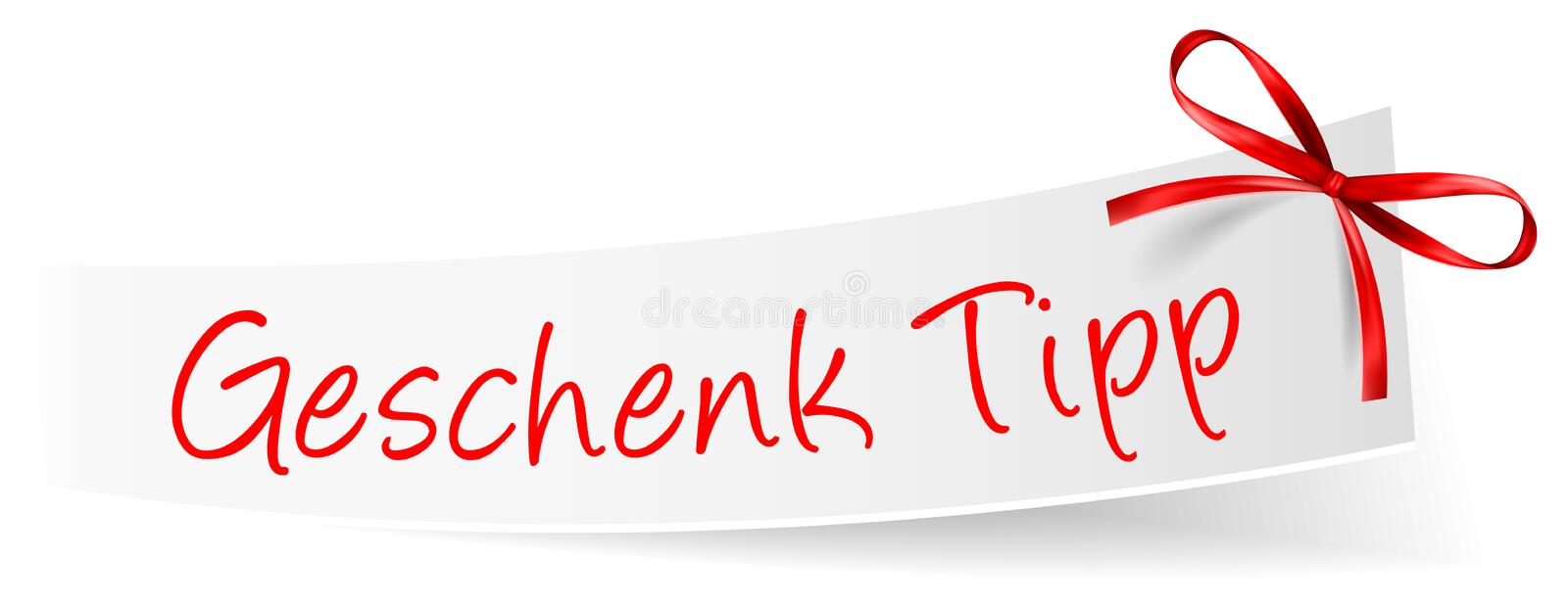 Geschenk Tipp Gift Tip German With Bow And Text Box Vector