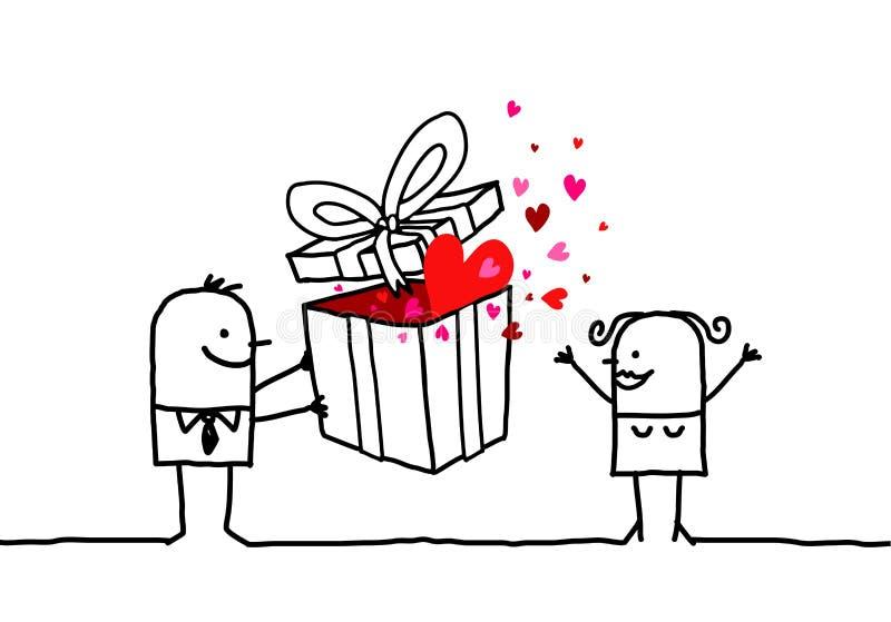 Geschenk u. Valentinsgruß lizenzfreie abbildung