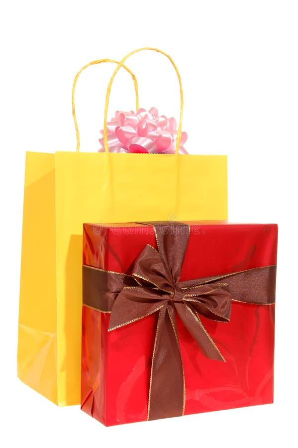 Geschenk und Geschenkbeutel lizenzfreies stockfoto