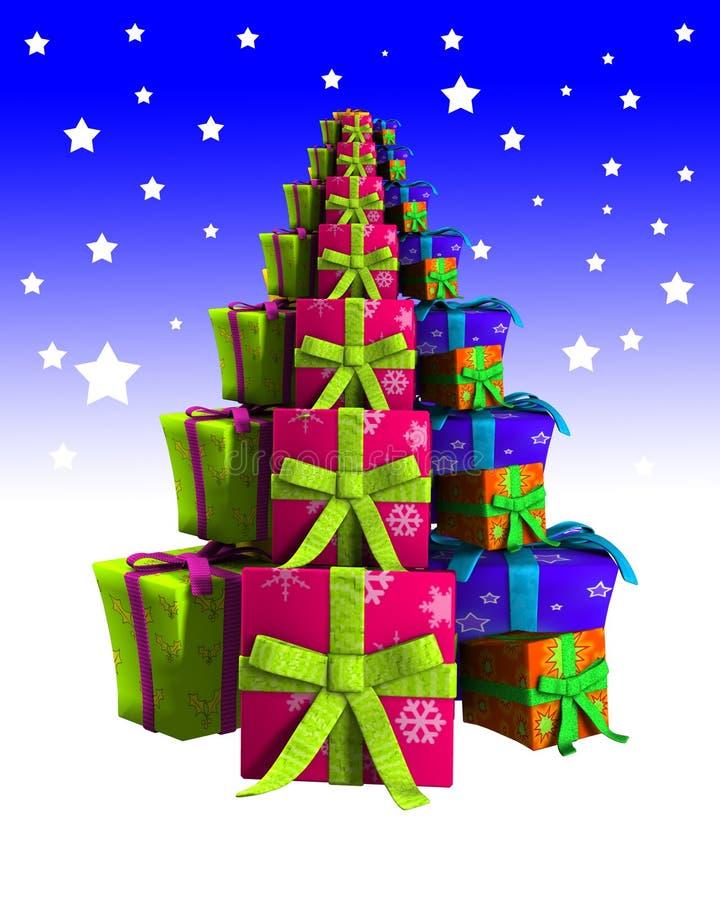 Geschenk-Weihnachtsbaum Lizenzfreie Stockbilder