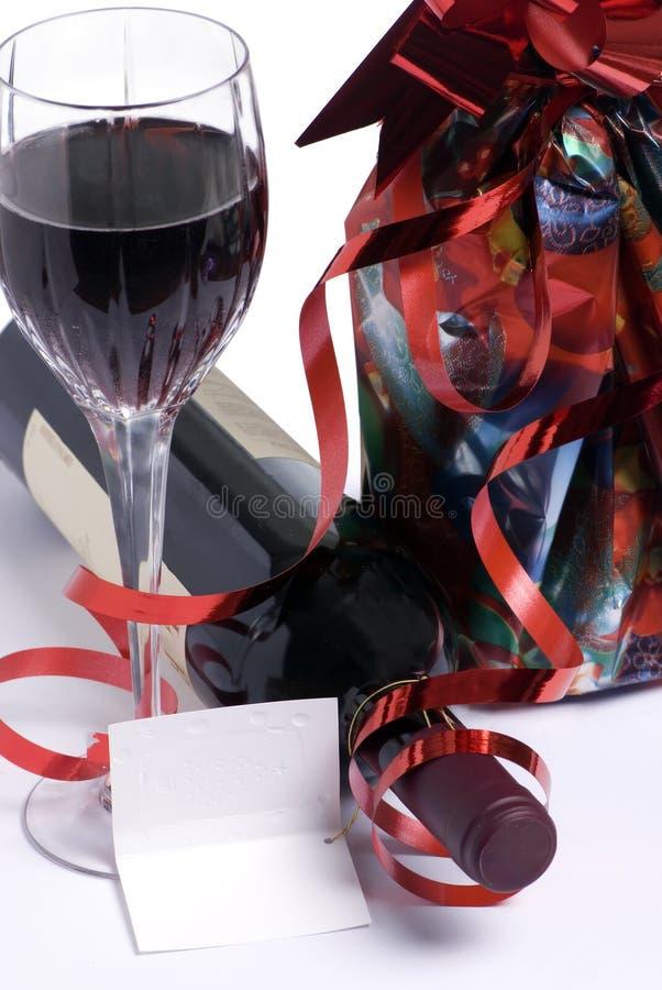 Geschenk-Wein 1 lizenzfreies stockbild