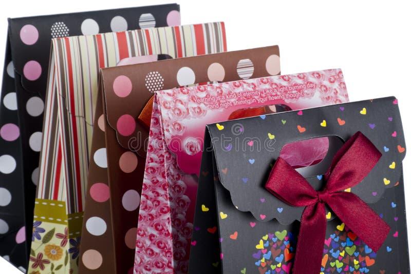 Geschenkbeutel stockbild