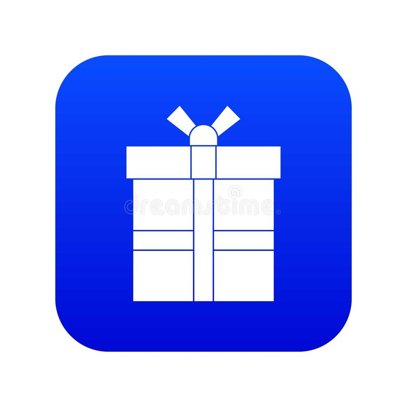 Geschenkbox mit digitalem Blau der Bandikone stock abbildung