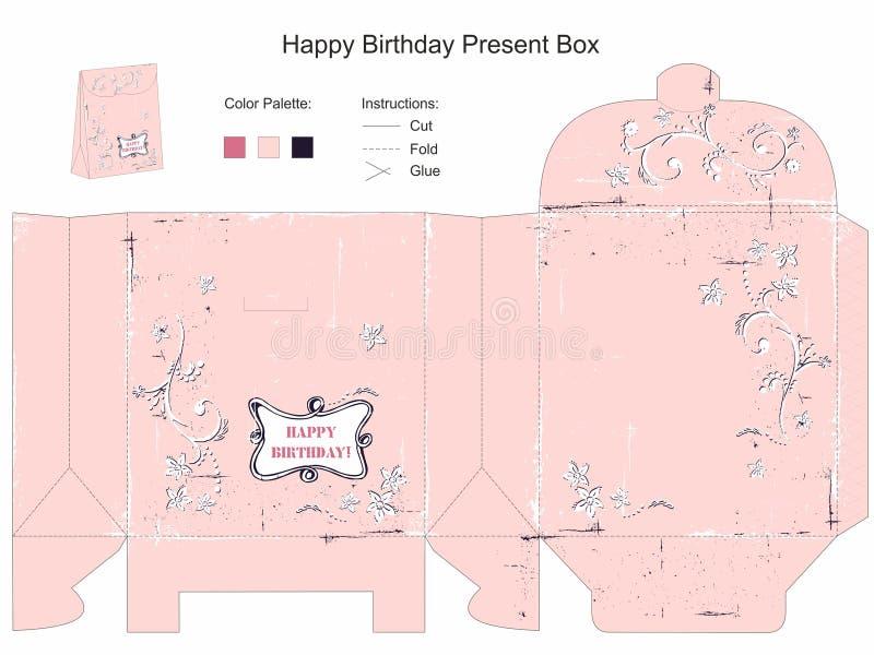 Geschenkbox-Schablone lizenzfreie abbildung
