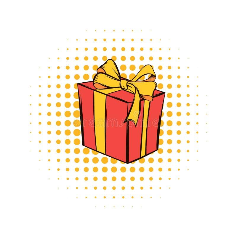Geschenkboxcomicsikone stock abbildung