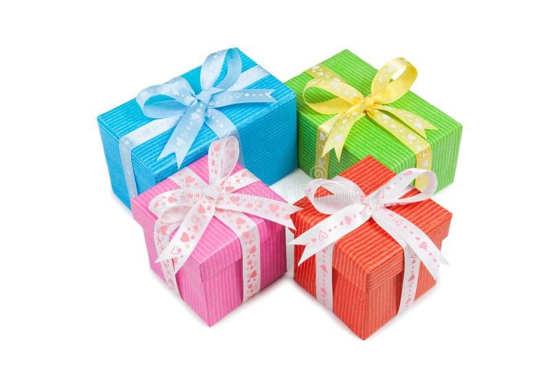 Geschenkboxen stockfoto