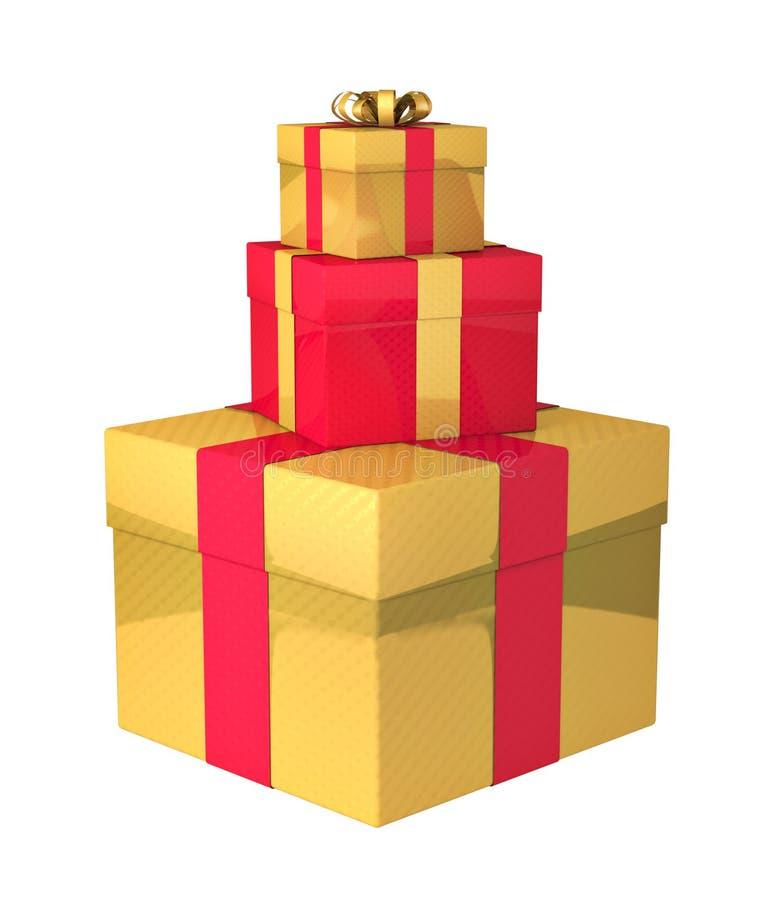Geschenkboxen vektor abbildung