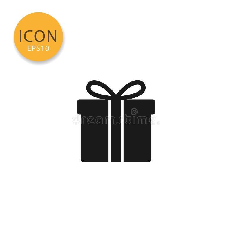 Geschenkboxikonen-Vektorillustration vektor abbildung