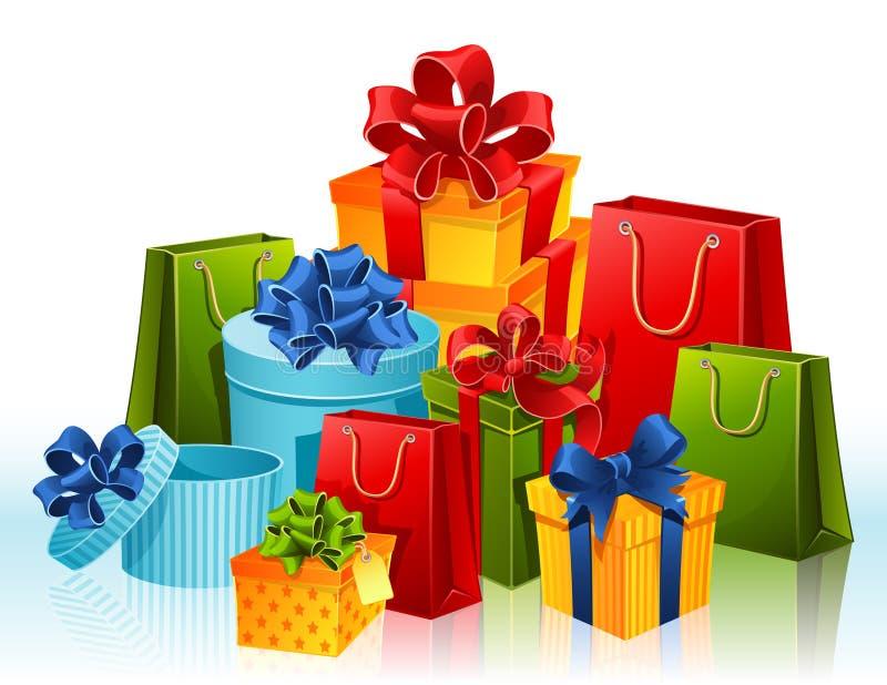 Geschenke stock abbildung